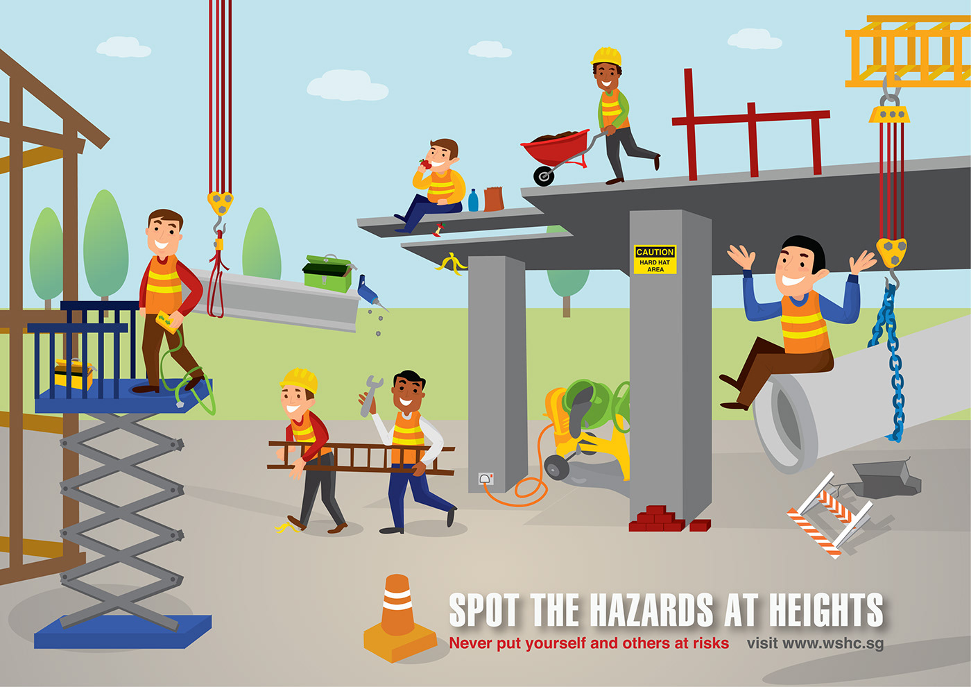 Stop The Hazards At Heights On Behance