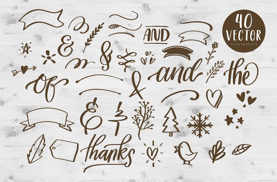 Download Delight Lettering Bundle - Pack of Lettering Fonts on Behance