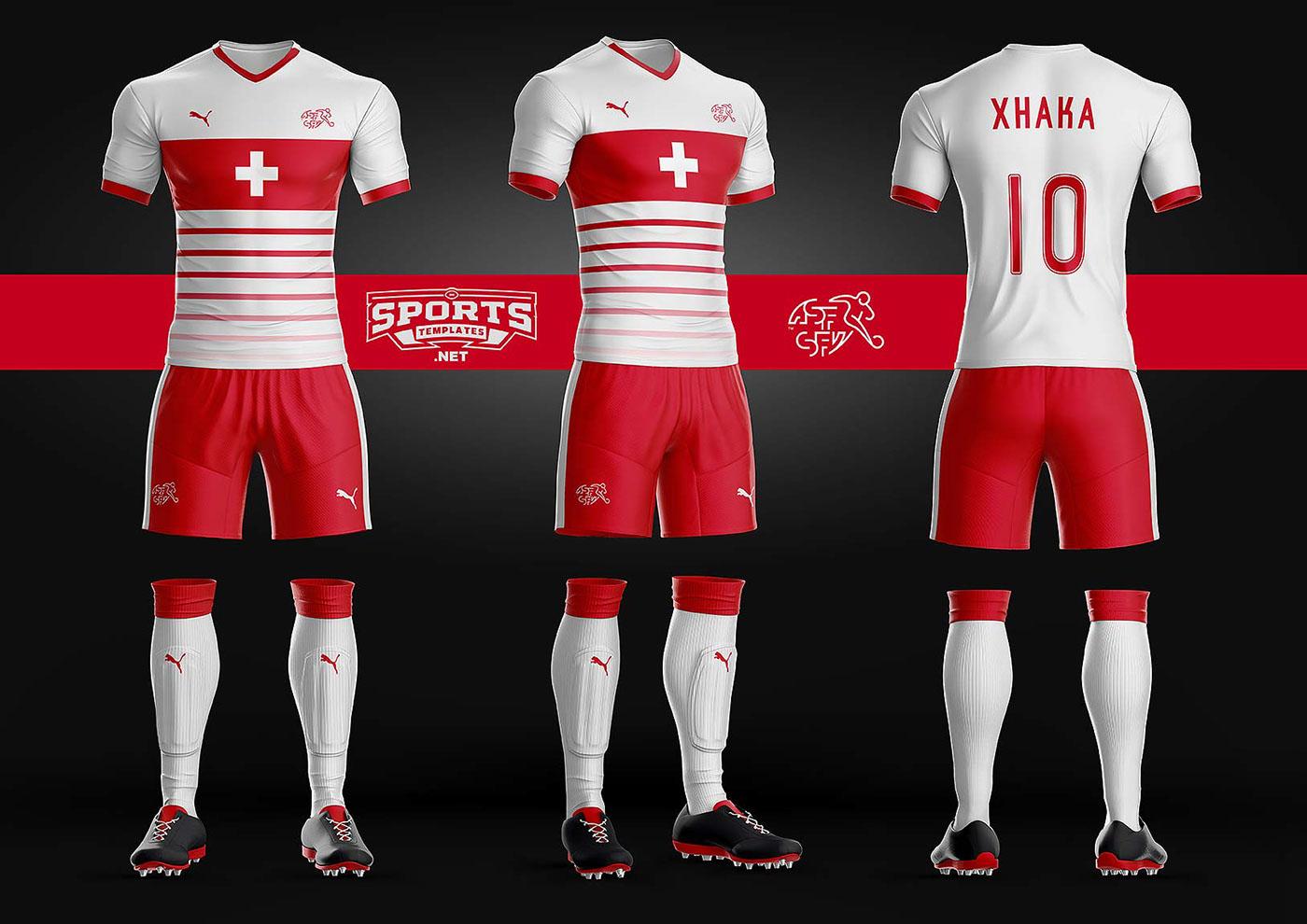 b0a9d587b Goal Soccer Kit Uniform Template On Behance