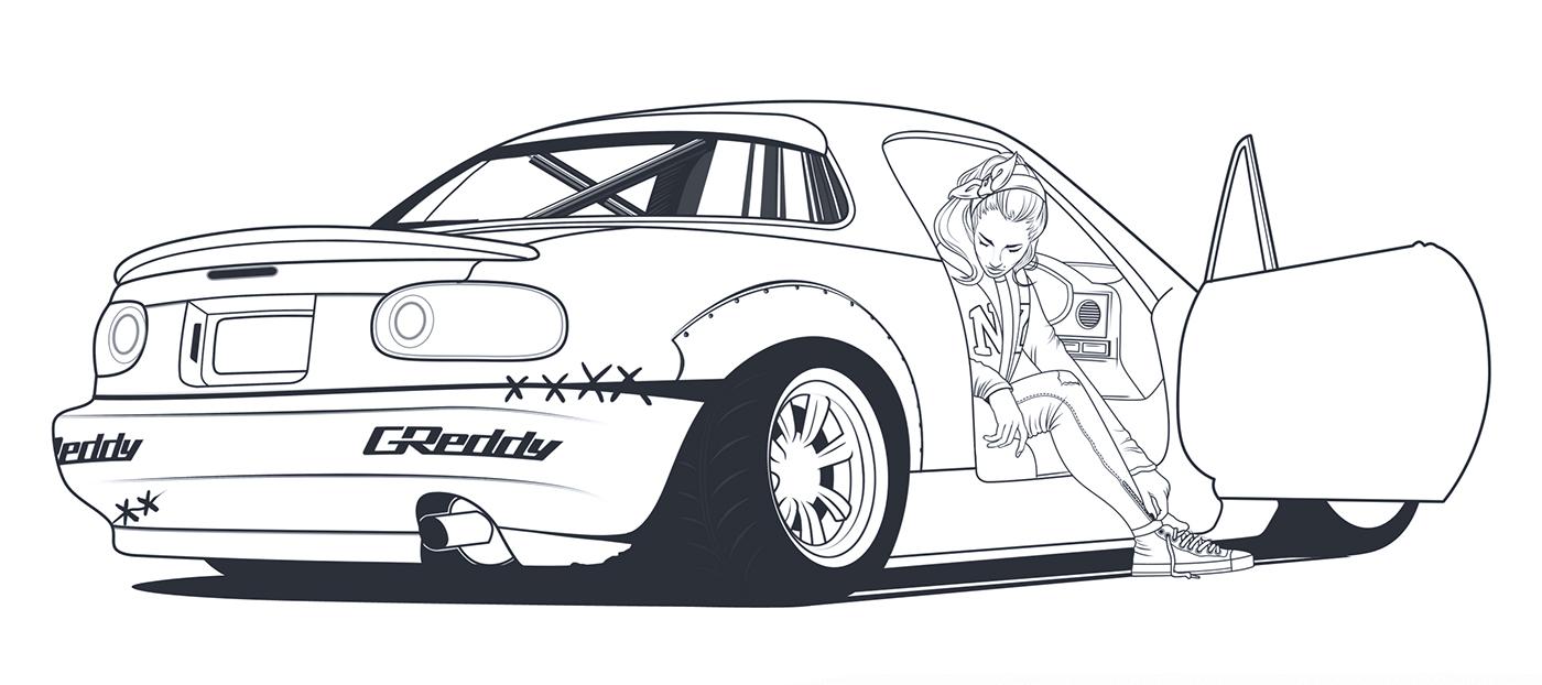 Kate's Mazda MX-5 on Behance