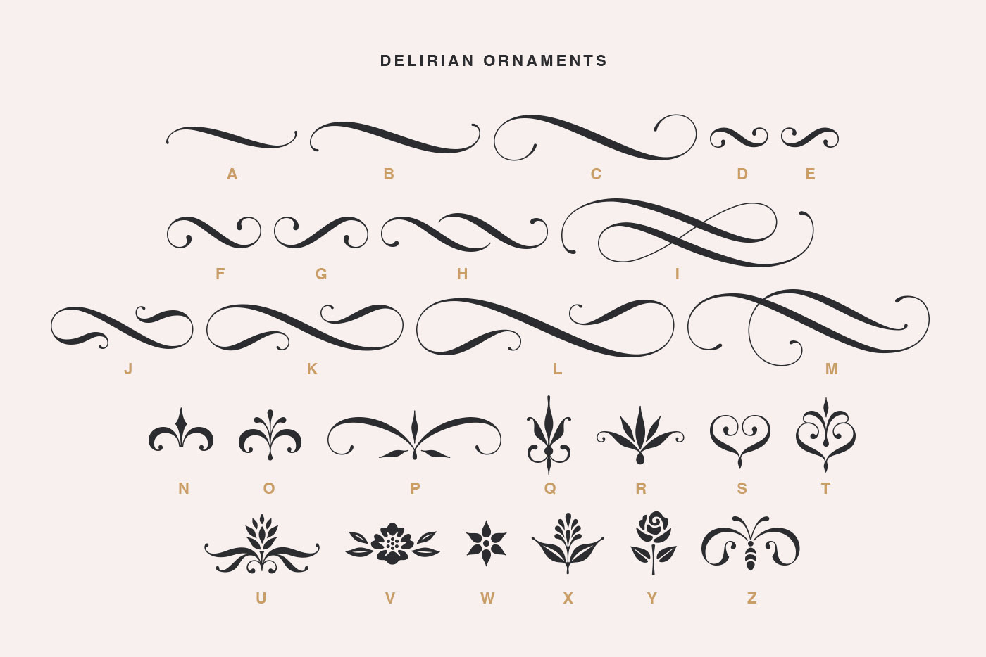 Delirian Script & Ornaments on Behance
