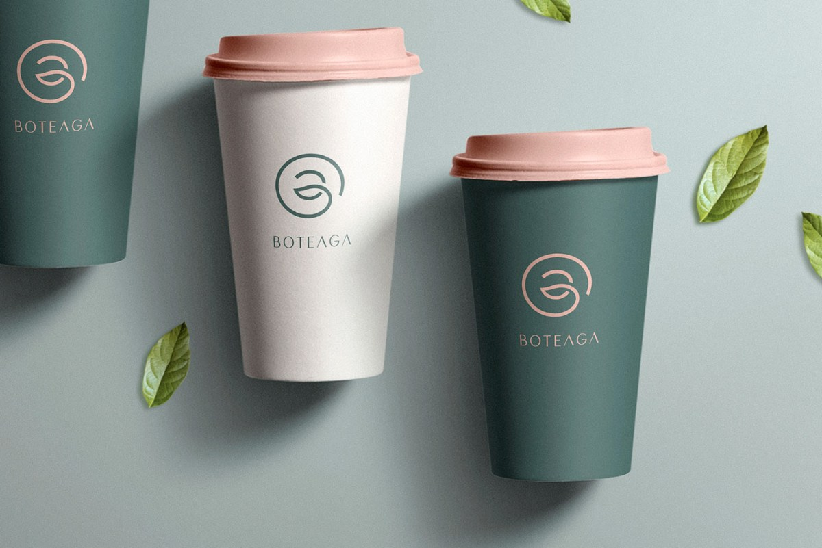 Image from Behance to show take out coffee cups
