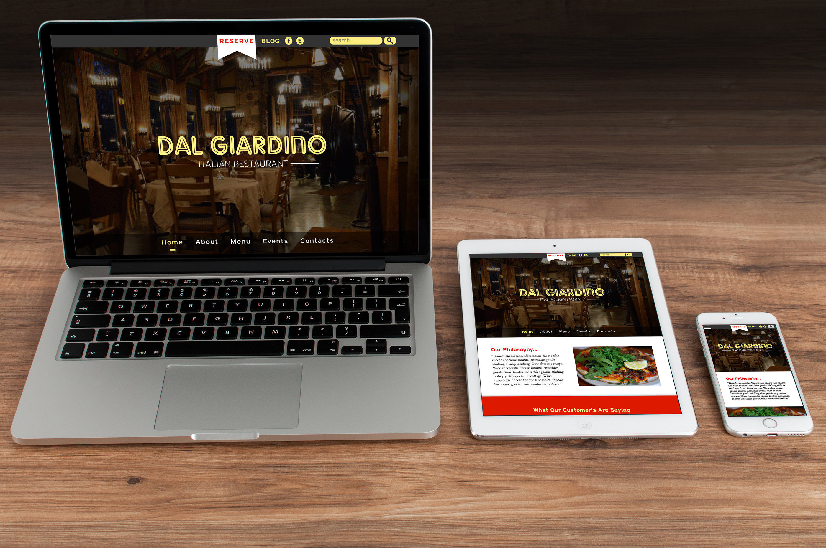 Italian Restaurant Redesign School Project On Behance