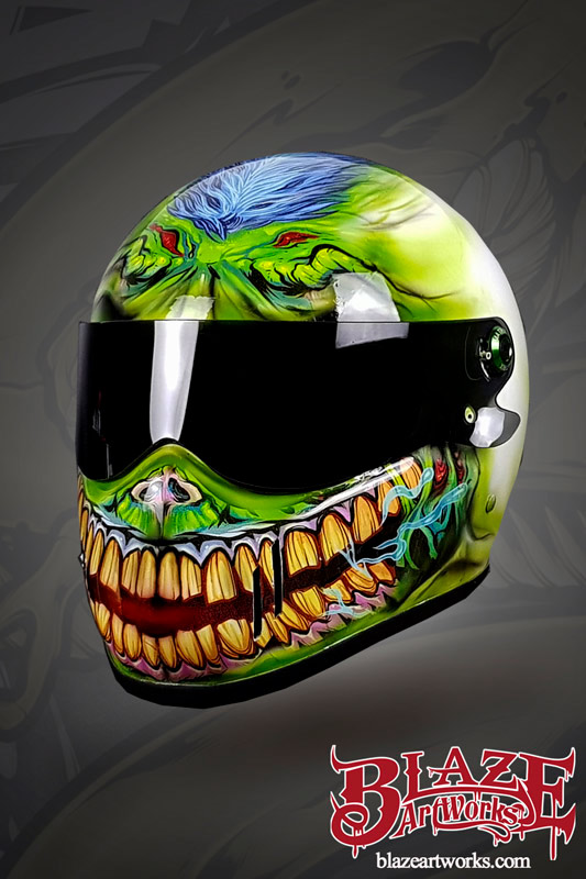 Motorcycle Helmet Vinyl Wrap : motorcycle, helmet, vinyl, Blaze, Artworks, Vinyl, Zombie, Helmet, Behance