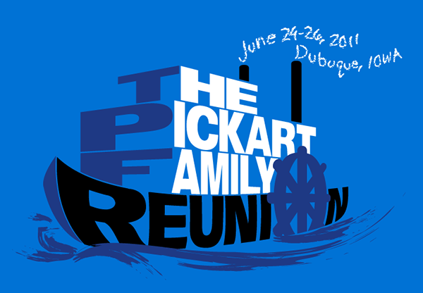 Pickart Family Reunion TShirt Logo on Student Show
