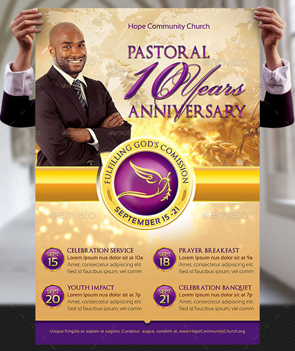 Clergy Anniversary Flyer and Poster Template on Behance