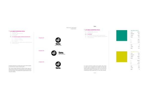 Manual de identidad corporativa de SIETE on Behance