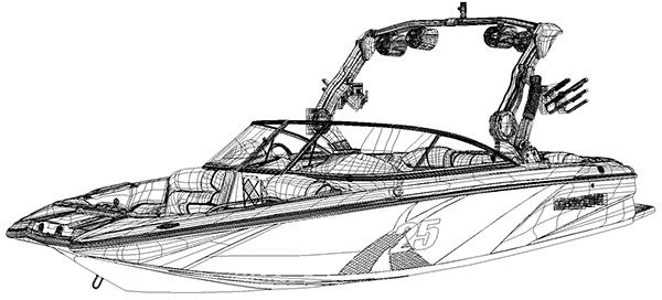 MasterCraft Boats X-25 Vector Illustration on Behance