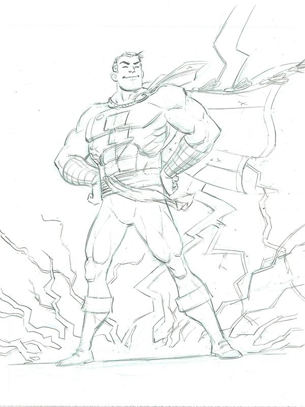 Captain Marvel/Shazam fanart on SCAD Portfolios