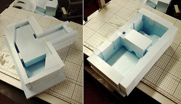 2 Plaster Models For Nu Architectuuratelier On Behance