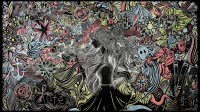 Chalkboard Manicure Wall Mural on Pantone Canvas Gallery