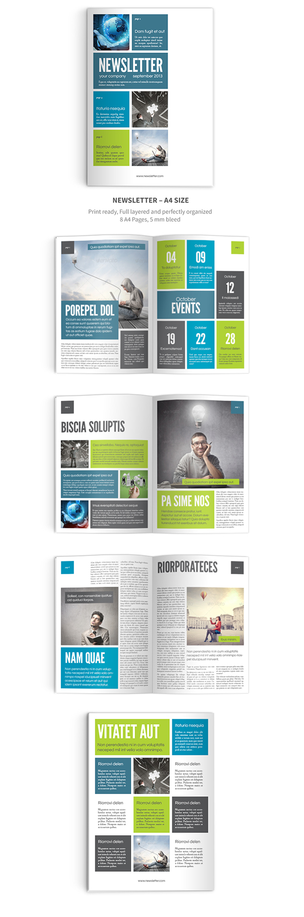 Newsletter Indesign Template on Behance