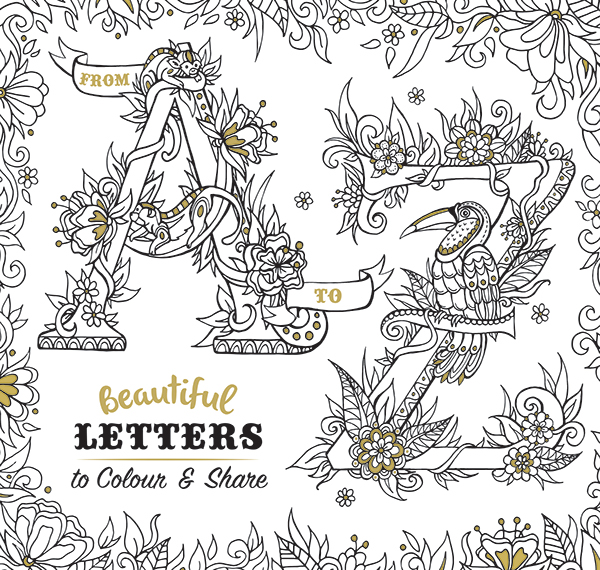 Beautiful Letters to Colour and Share on SCAD Portfolios