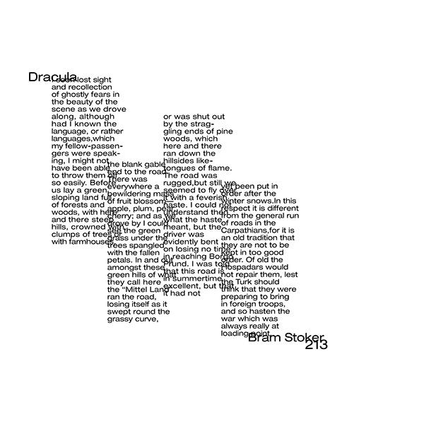 Typographic Explorations-Dracula excerpt by Bram Stoker on