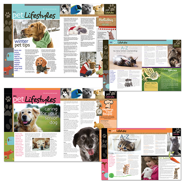 Pet Lifestyles Logo Magazine Layout On Behance