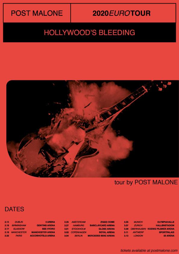 hollywood s bleeding tour poster on behance