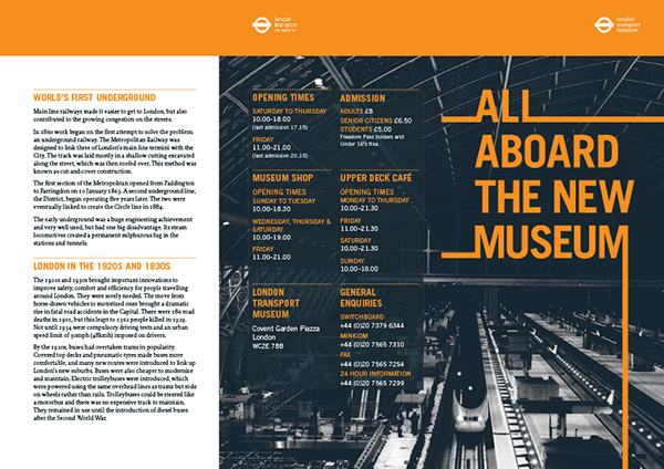 London Transport MuseumMembership Brochure on Behance
