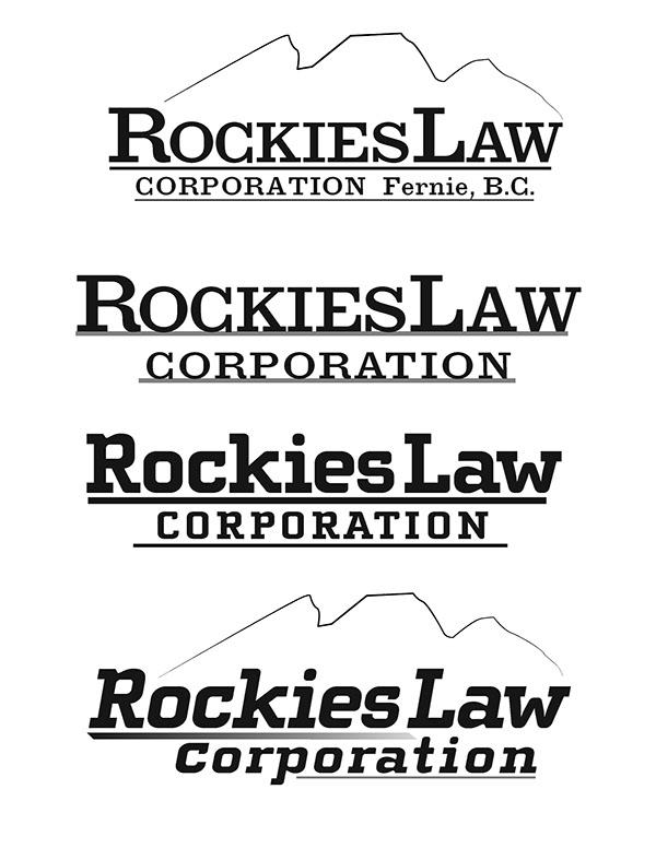 Absolutely modern: Rockies Law wordmark + logotype on RISD