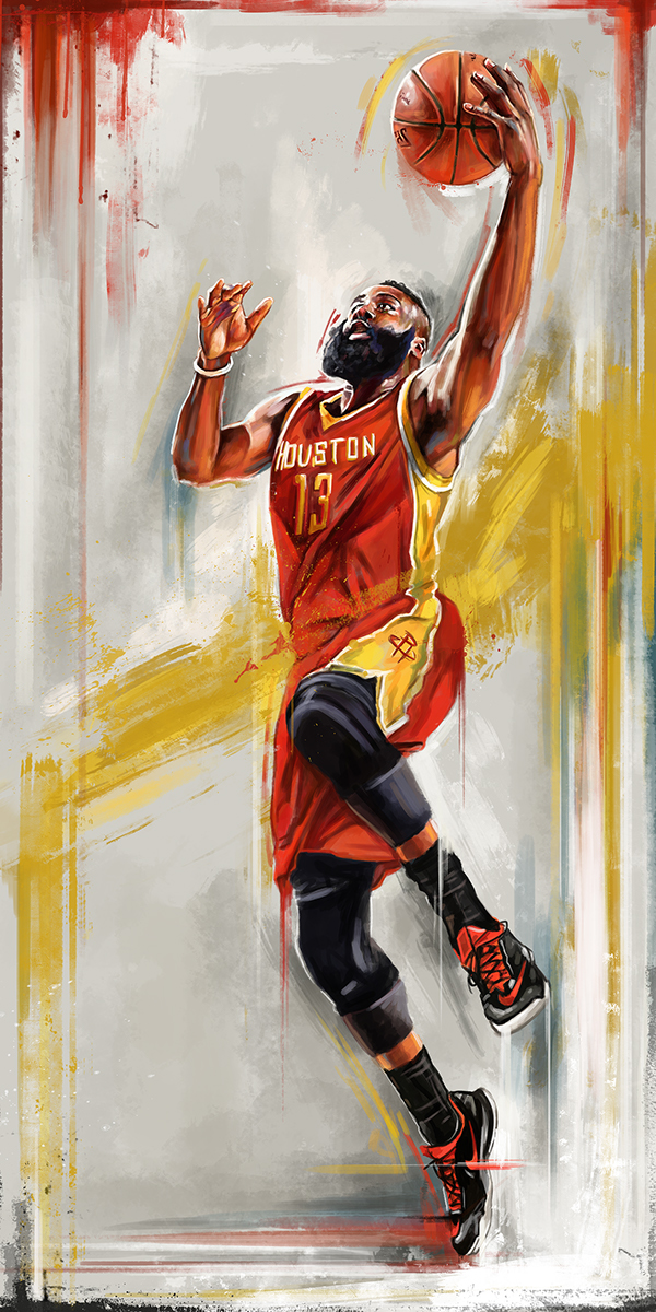 James Harden Wallpaper Hd 2015 Nba Playoff Player Illustrations On Wacom Gallery