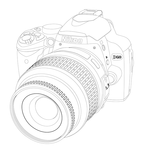 Nikon Camera Rendering on Behance