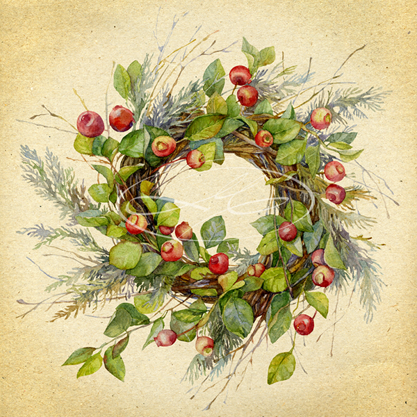 Wreath Of Twigs With Apples On Behance