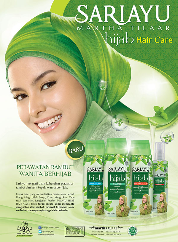 Print Ads SARIAYU Hijab Hair Care Series On Behance