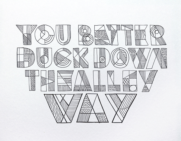 Bob Dylan´s HAND LETTERING EXPERIENCE on Typography Served