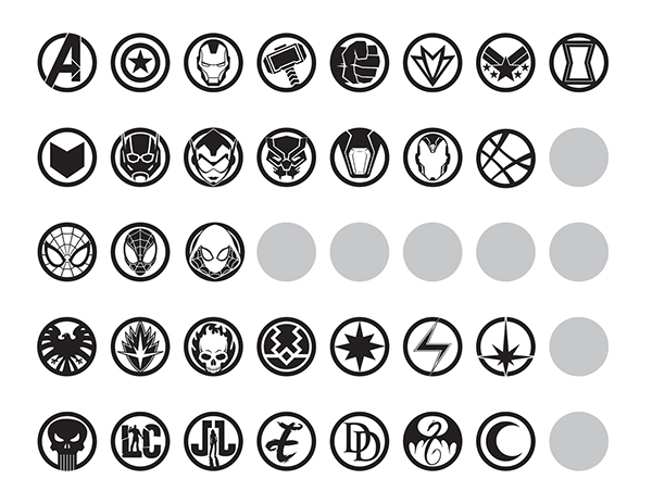 Marvel Icons Style Guide on Behance