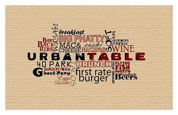 urban table placemat design