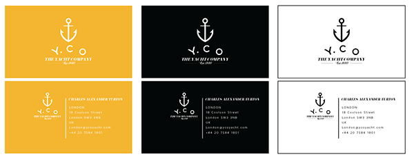 The Yacht Company Corporate Identity On Behance