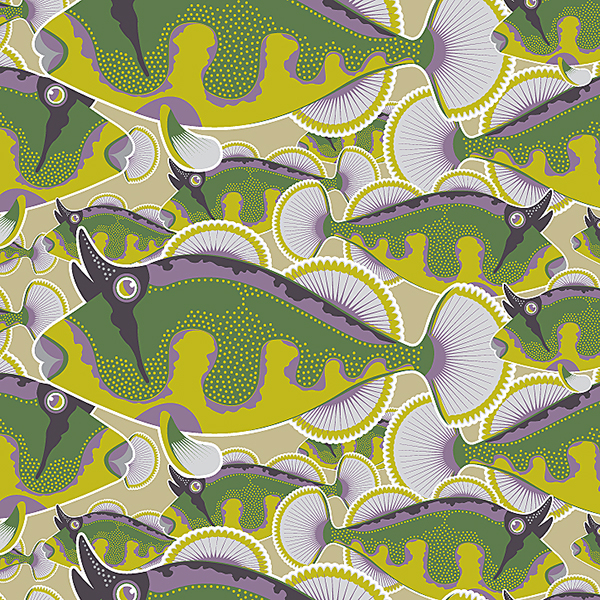 Vegetative motifs on Behance