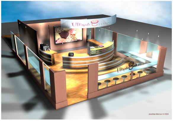 Interior Design For A Cupcake Shop On Behance