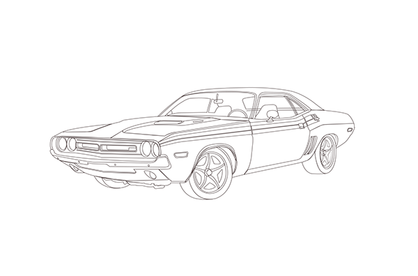 Dodge Challenger on Behance