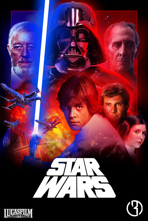 star wars a new hope poster remake on