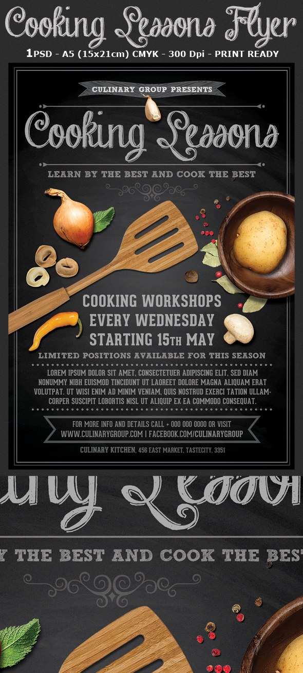 Cooking Lessons Flyer Template V2 On Behance