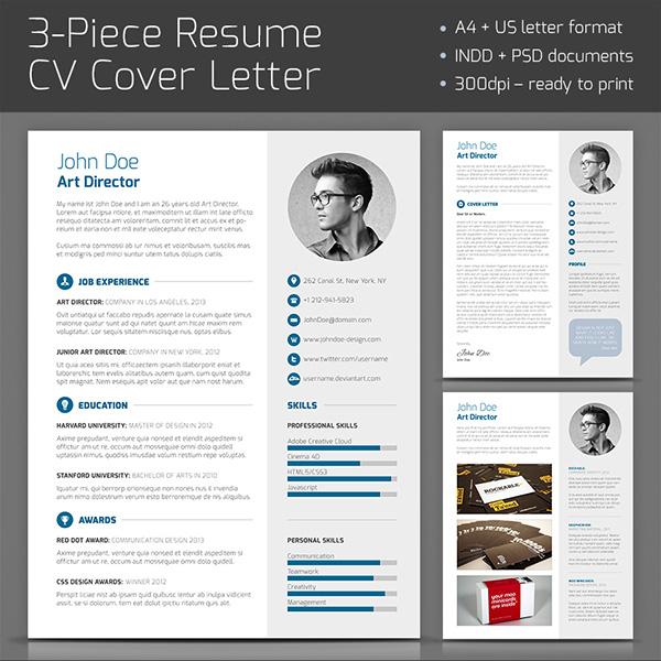 3 Piece Resume On Behance