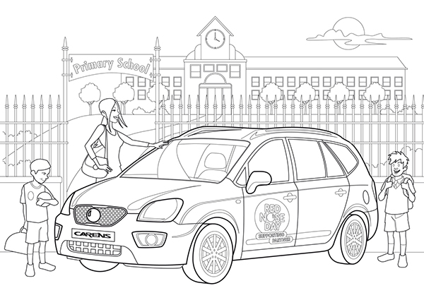 Colouring in for KIA & Comic Relief on Behance