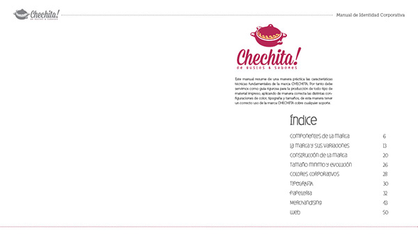 RESTAURANT CHECHITA Manual de imagen corporativa on Behance
