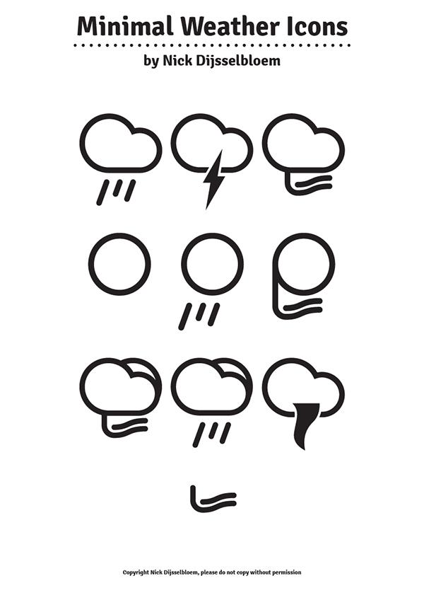 Minimal Weather Icons on Behance
