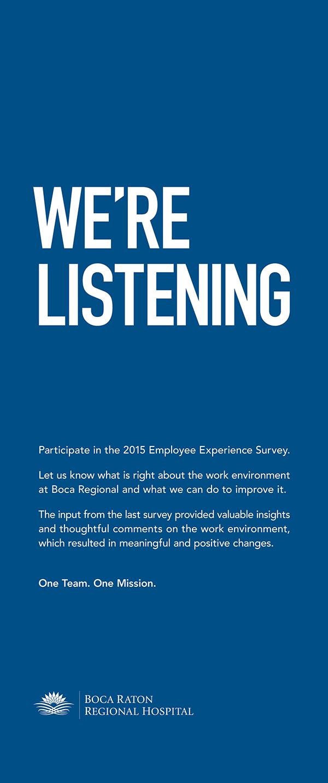 Were Listening Workplace Campaign on SCAD Portfolios