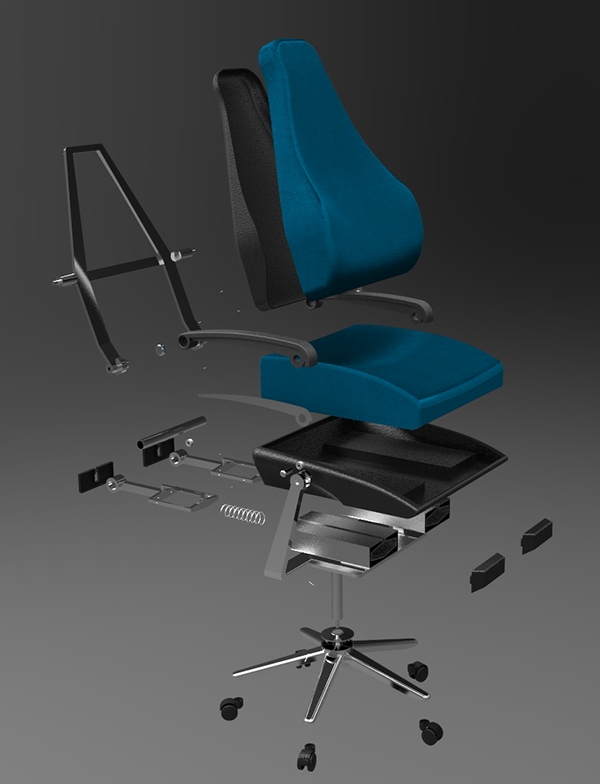 desk chair leans forward big and tall dining chairs sustainable ergonomic furniture range on behance