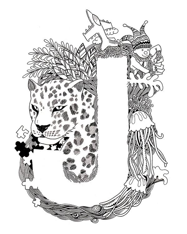 Doodle alphabet typography on Behance