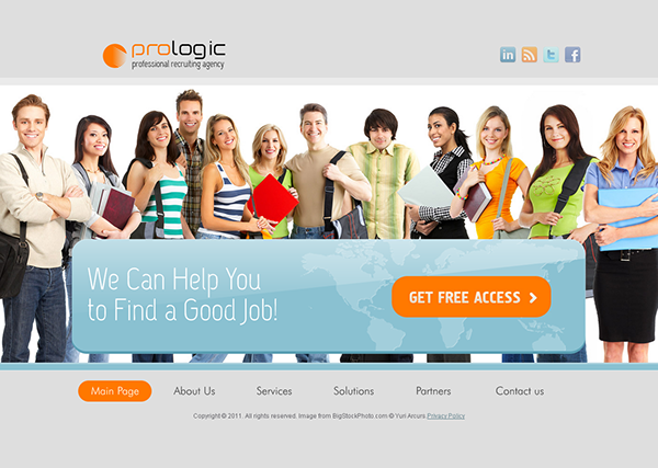 Pro Logic Recruiting Agency HTML5 Template On Behance