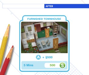 sims template freeplay button behance