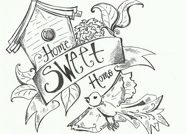 Home Sweet Home Postcard on Behance
