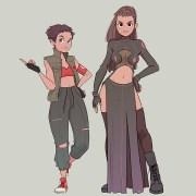 character design oc. warriors
