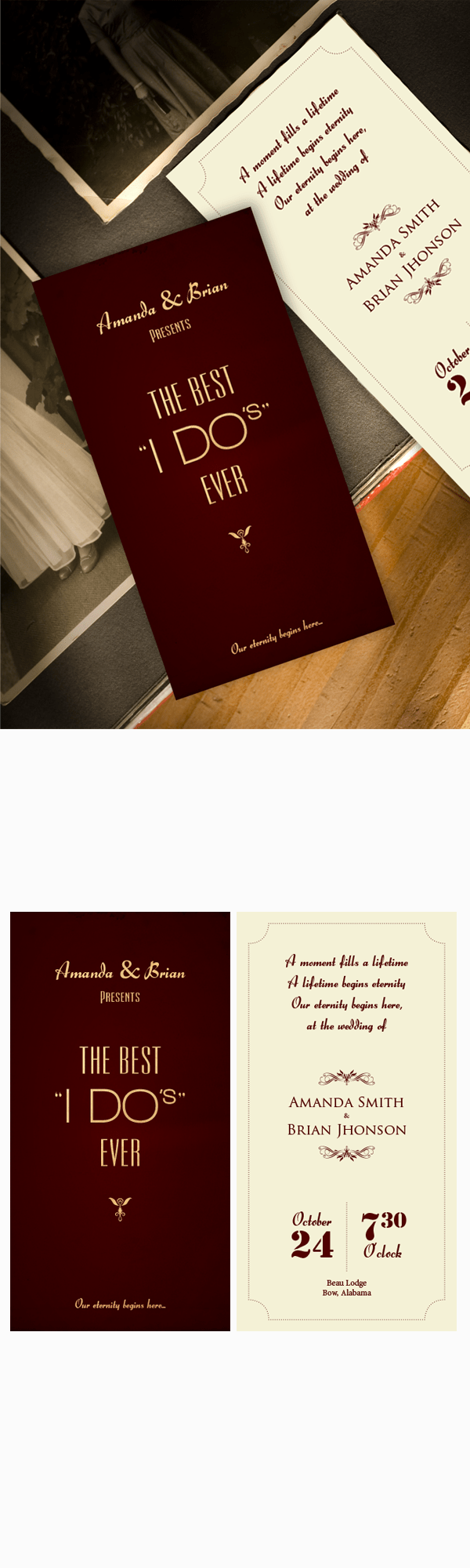 wedding invitation inspired by