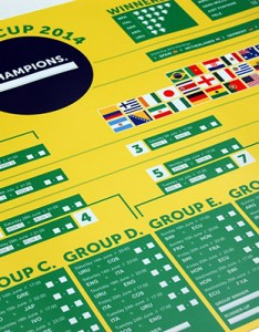 set out to create  bold simplistic and confusion free wall chart schedule allowing fans follow all of the tournament   match action from initial also world cup brazil on behance rh