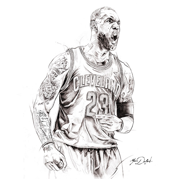 Lebron James on Pantone Canvas Gallery