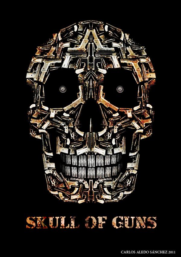 skull of guns on